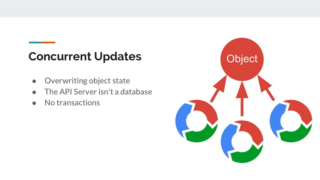Concurrent Updates ● Overwriting object state ●...