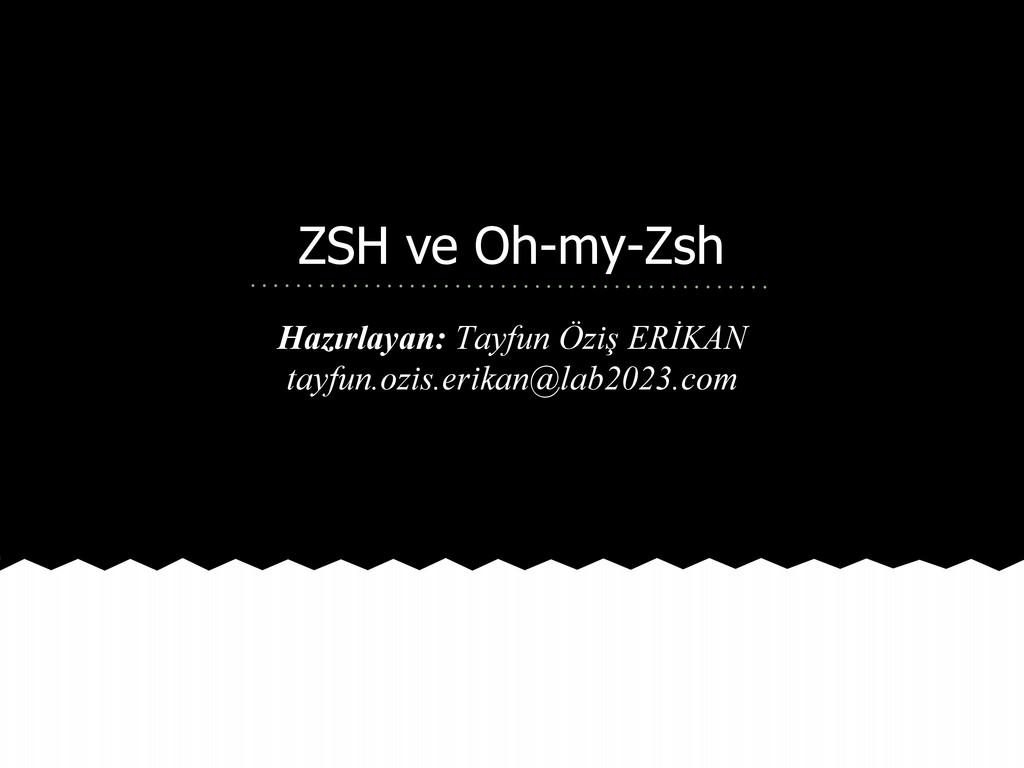 ZSH ve Oh-my-Zsh Hazırlayan: Tayfun Öziş ERİKAN...