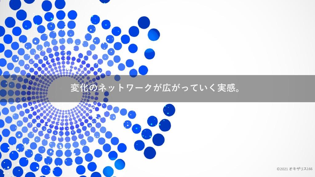 変化のネットワークが広がっていく実感。 ©2021 オキザリス166