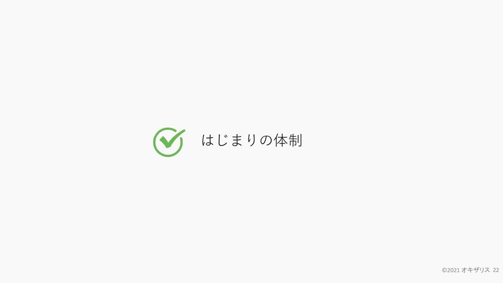 はじまりの体制 ©2021 オキザリス 22