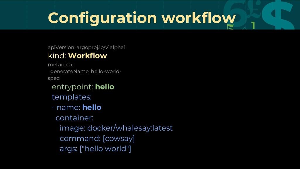 Configuration workflow apiVersion: argoproj.io/...