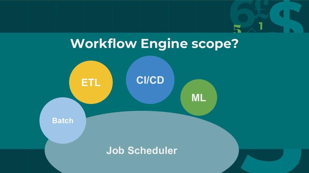 Workflow Engine scope? CI/CD ETL Job Scheduler ...