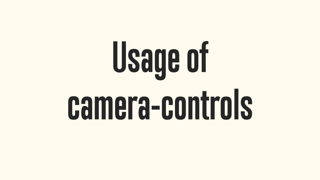 Usage of camera-controls
