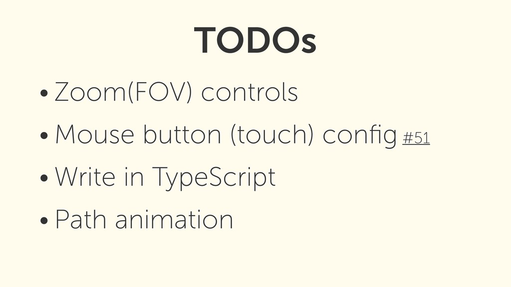 • Zoom(FOV) controls • Mouse button (touch) con...