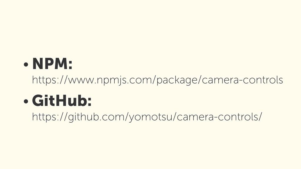 • NPM: https://www.npmjs.com/package/camera-co...