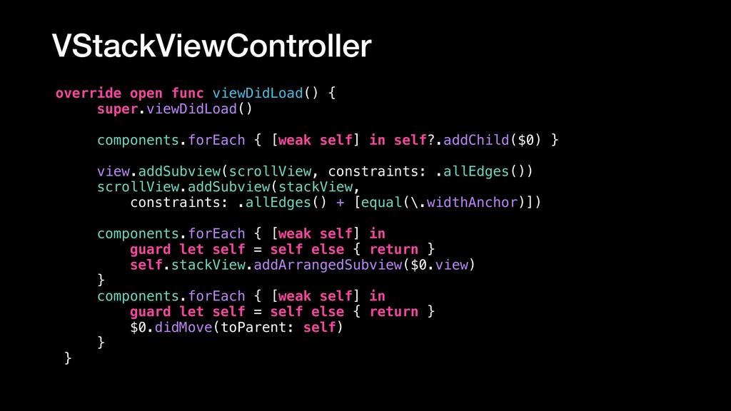 VStackViewController override open func viewDid...