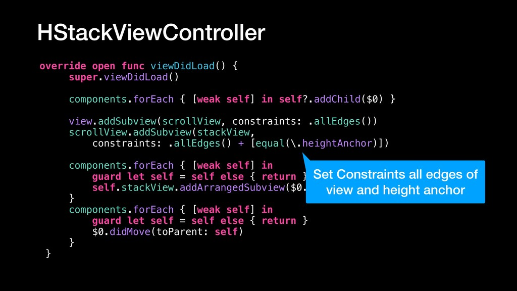 HStackViewController override open func viewDid...