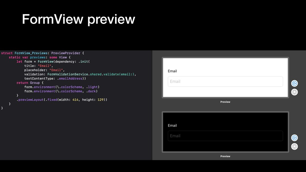 FormView preview
