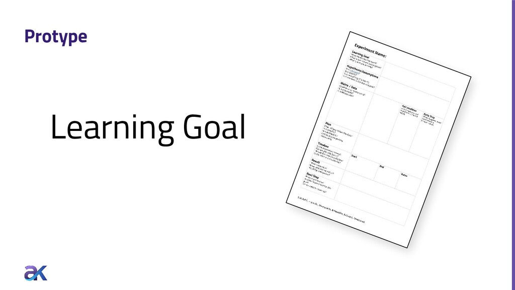 Protype Learning Goal