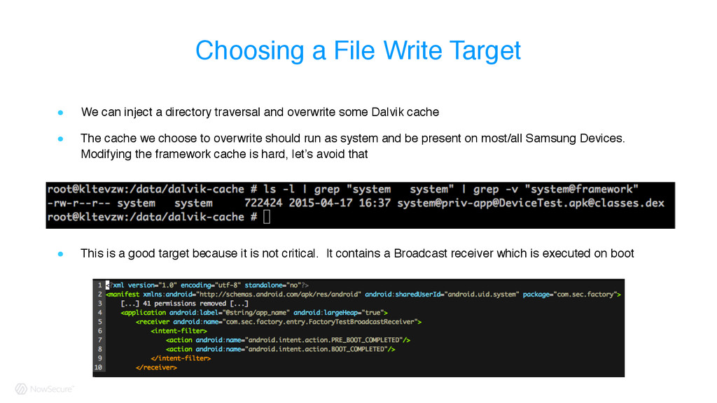 Choosing a File Write Target ! We can inject a ...