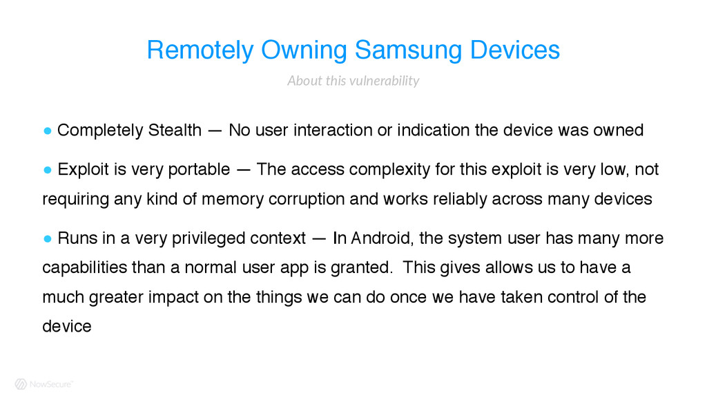 Remotely Owning Samsung Devices ! Completely St...