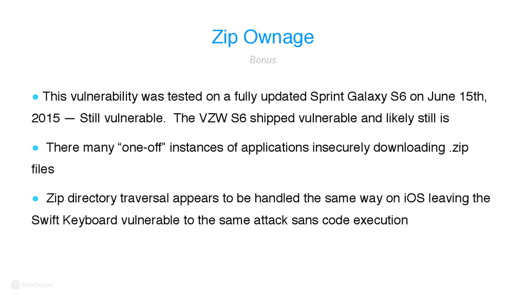 Zip Ownage ! This vulnerability was tested on a...