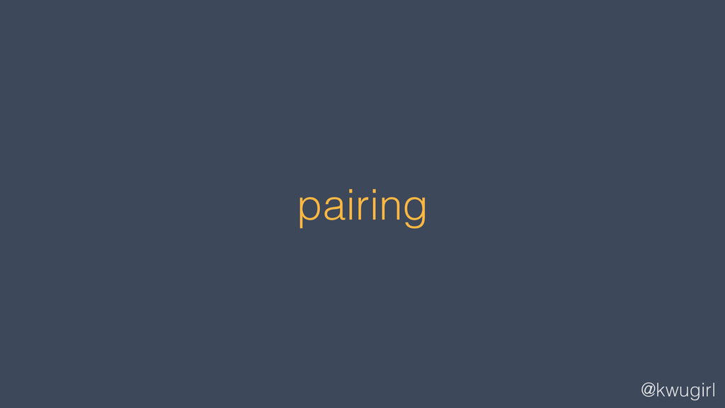 @kwugirl pairing