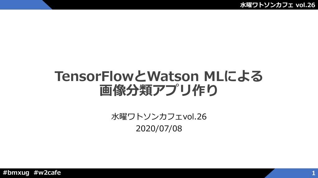 水曜ワトソンカフェ vol.26 #bmxug #w2cafe TensorFlowとWats...