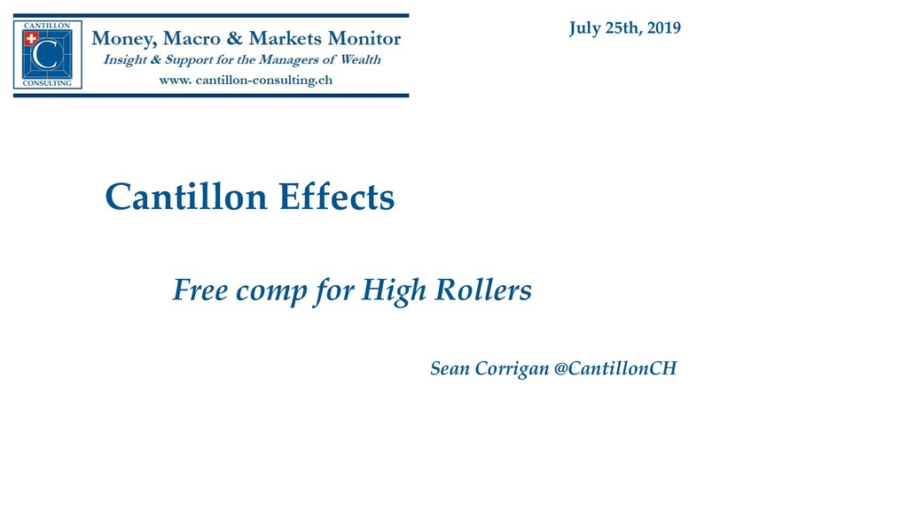 Cantillon Effects Free comp for High Rollers Se...