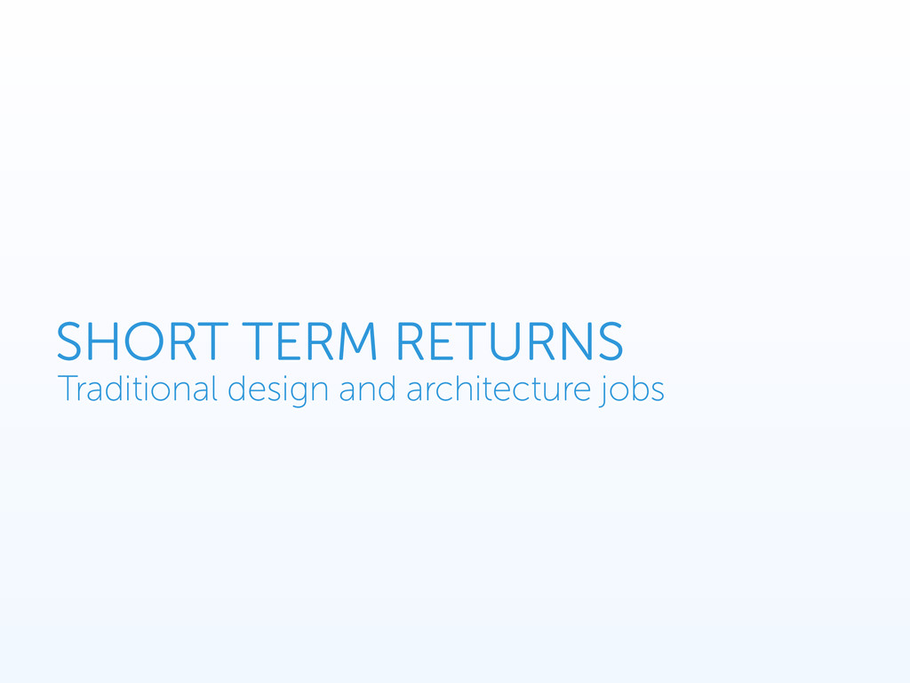 SHORT TERM RETURNS Traditional design and archi...
