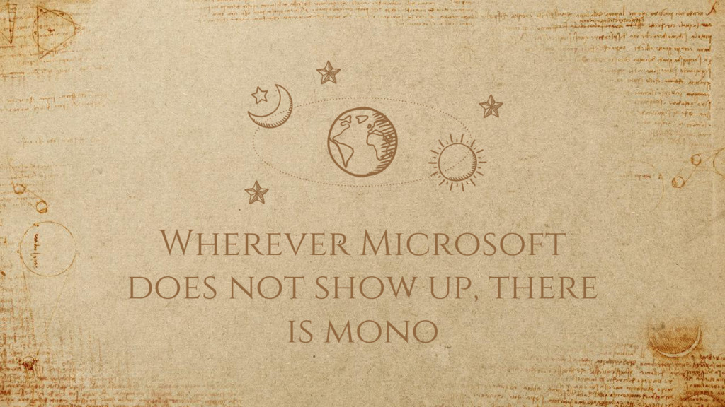 Wherever Microsoft does not show up, there is m...