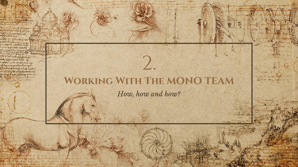 2. Working With The MONO TEAM How, how and how?