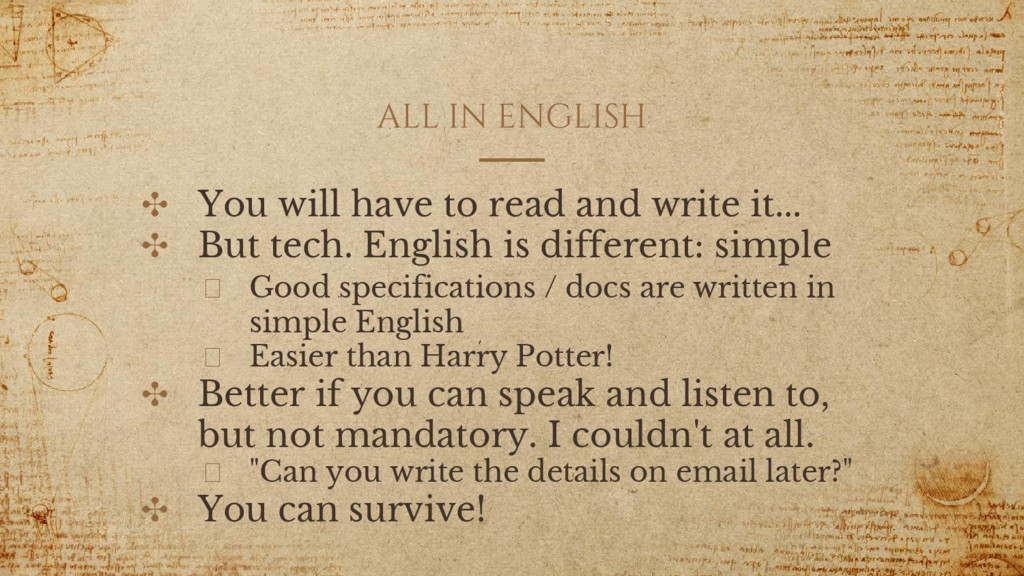 ALL IN ENGLISH ✣ You will have to read and writ...