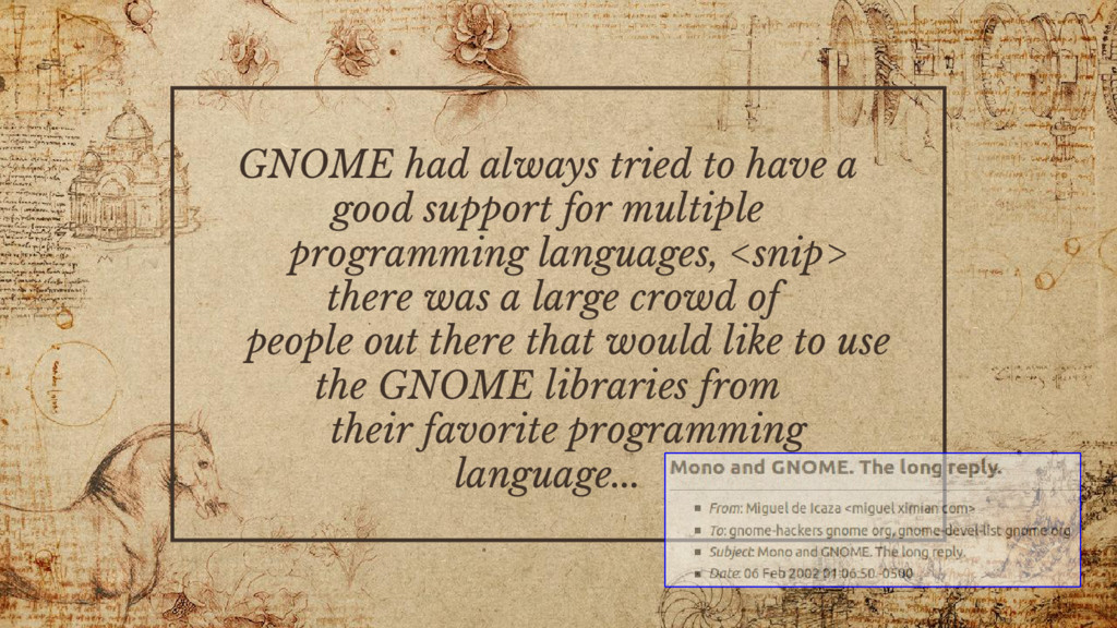 GNOME had always tried to have a good support f...