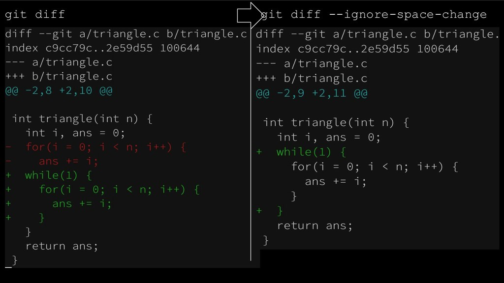 git diff git diff --ignore-space-change