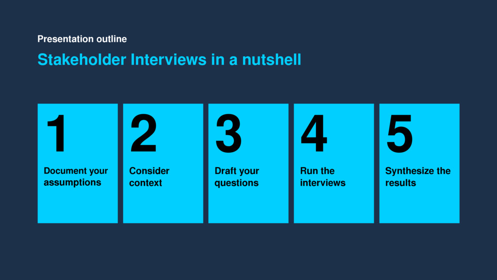 Presentation outline Stakeholder Interviews in ...