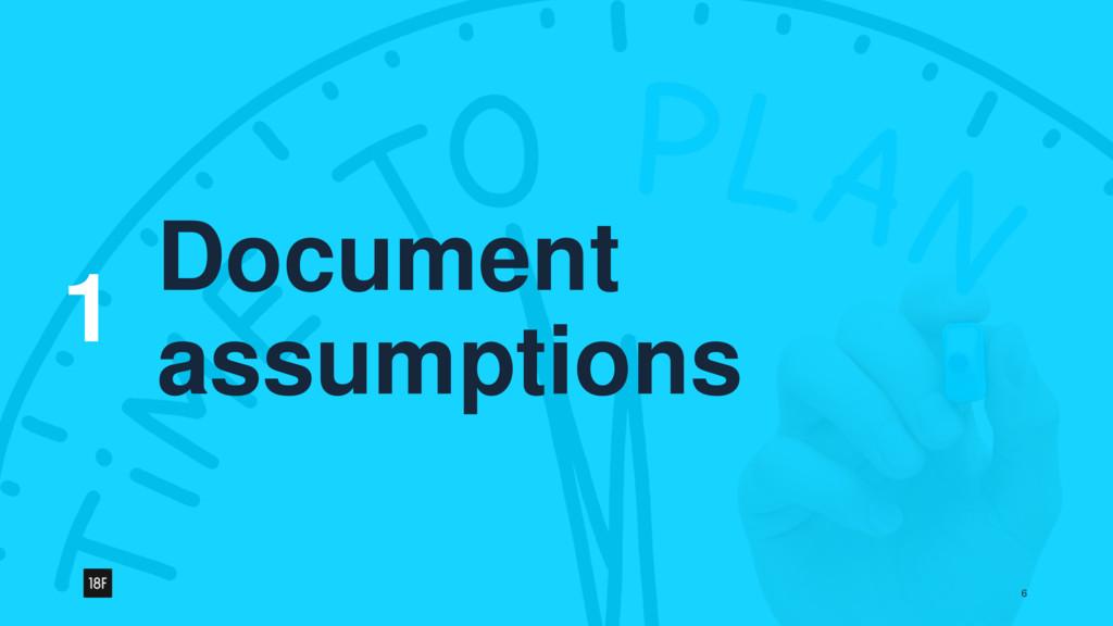 1 6 Document assumptions