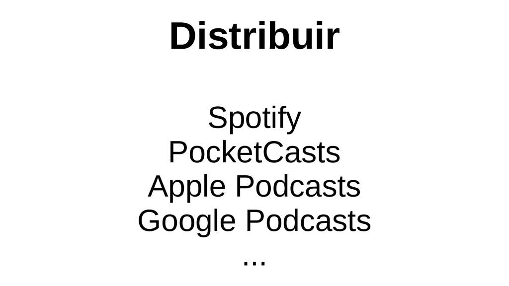 Distribuir Spotify PocketCasts Apple Podcasts G...