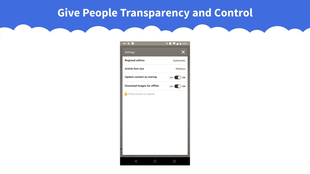 Give People Transparency and Control