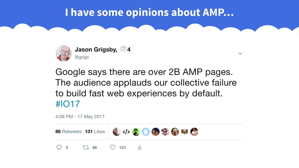 I have some opinions about AMP…