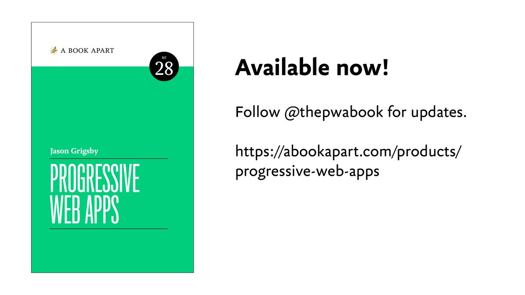Available now! Follow @thepwabook for updates. ...
