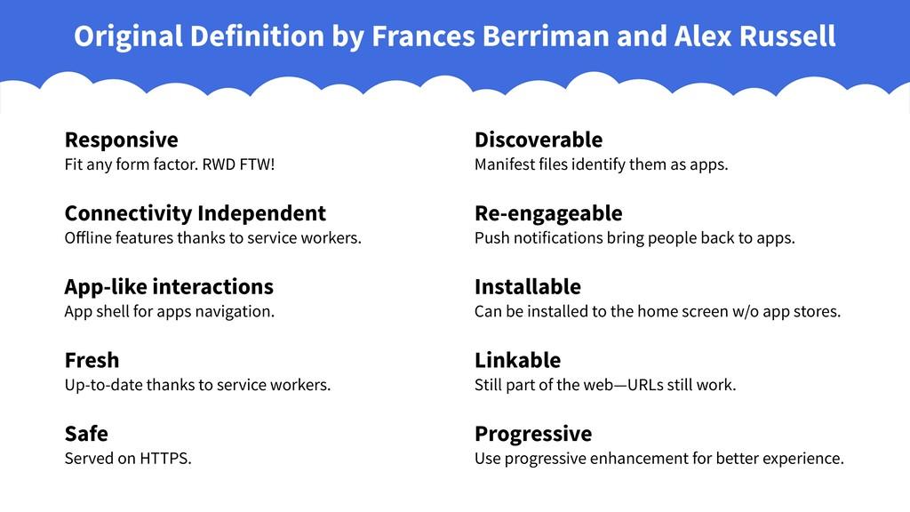 Original Definition by Frances Berriman and Ale...