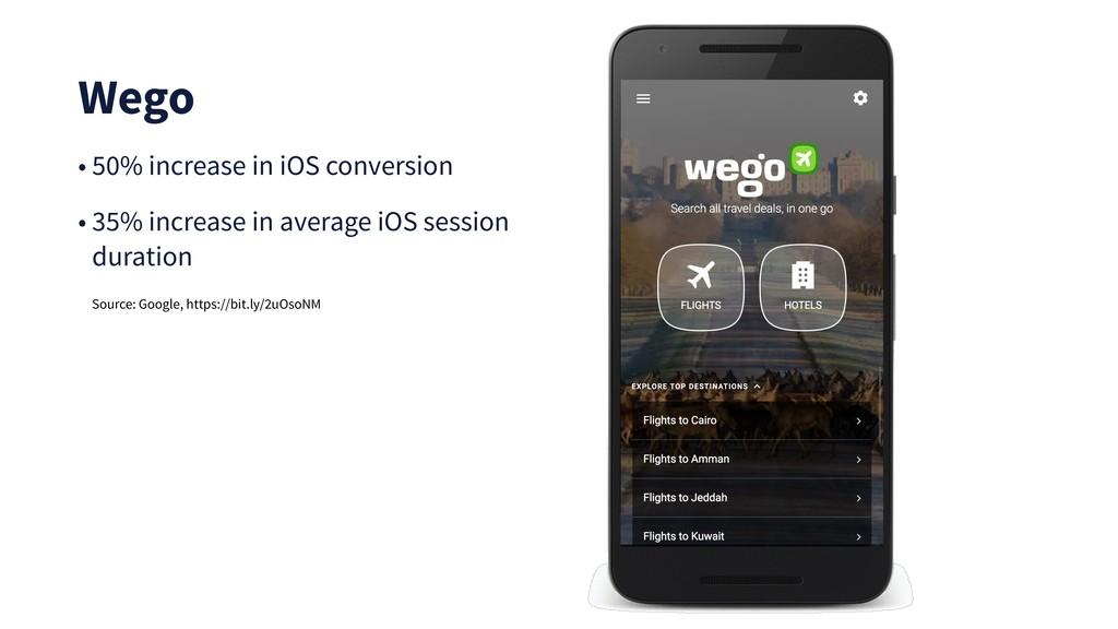 Wego • 50% increase in iOS conversion • 35% inc...