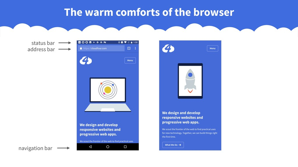 The warm comforts of the browser navigation bar...