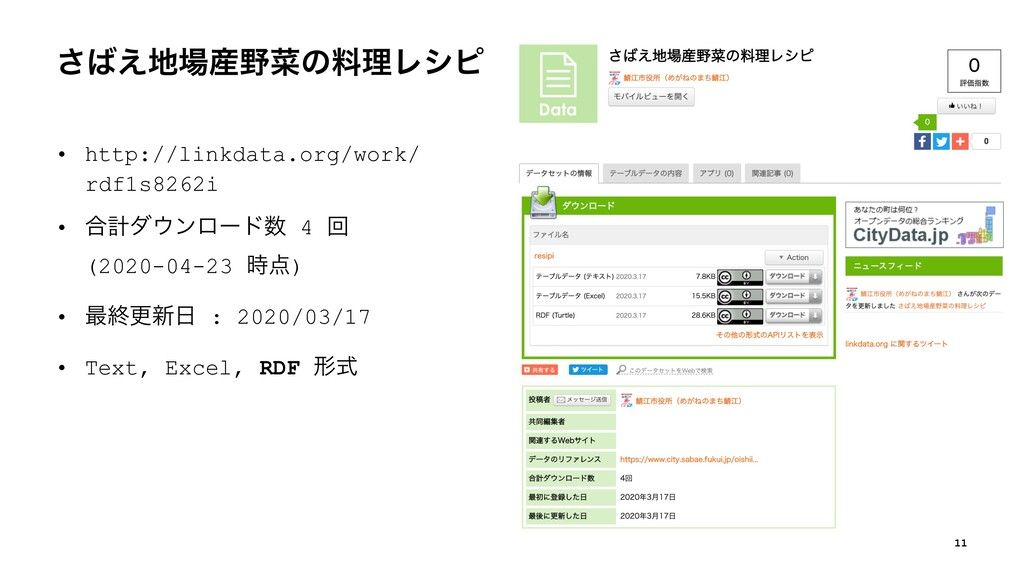 ͑͞ࡊͷྉཧϨγϐ • http://linkdata.org/work/ rdf1...