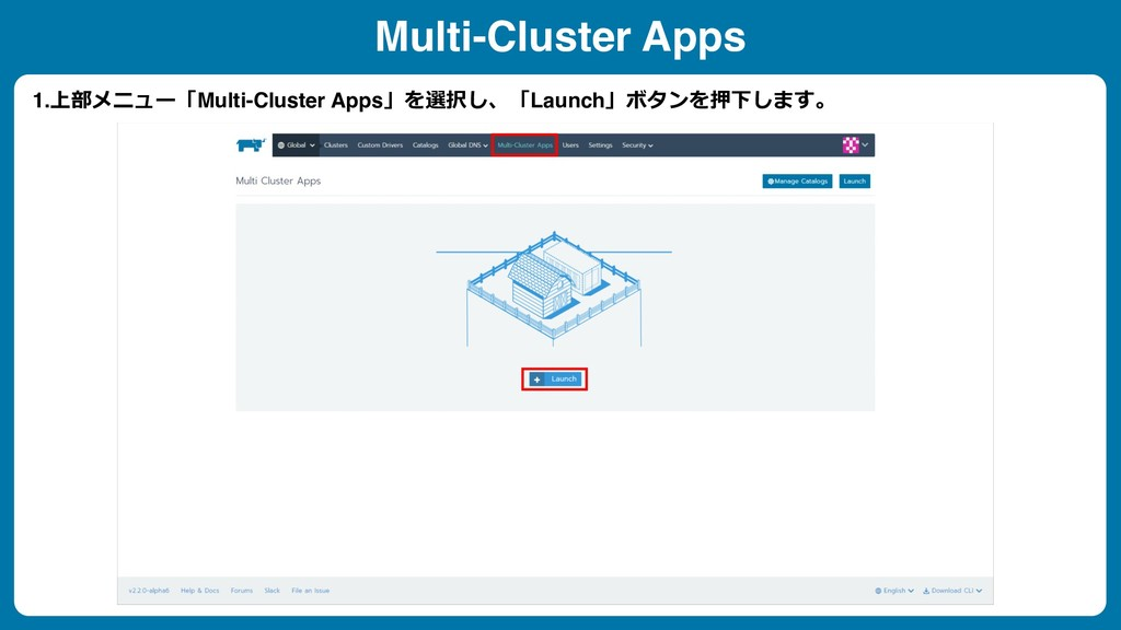 1.Multi-Cluster Apps Launch  ...