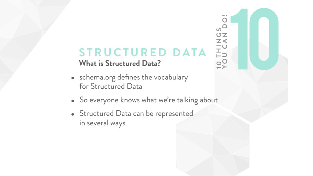 STRUCTURE D DATA What is Structured Data? • sch...