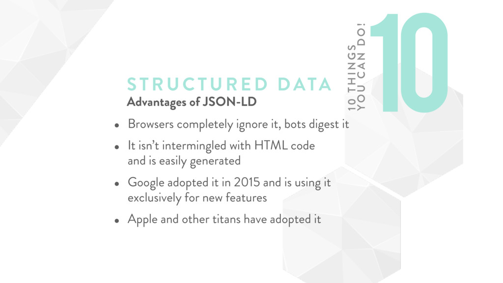 STRUCTURE D DATA Advantages of JSON-LD • Browse...