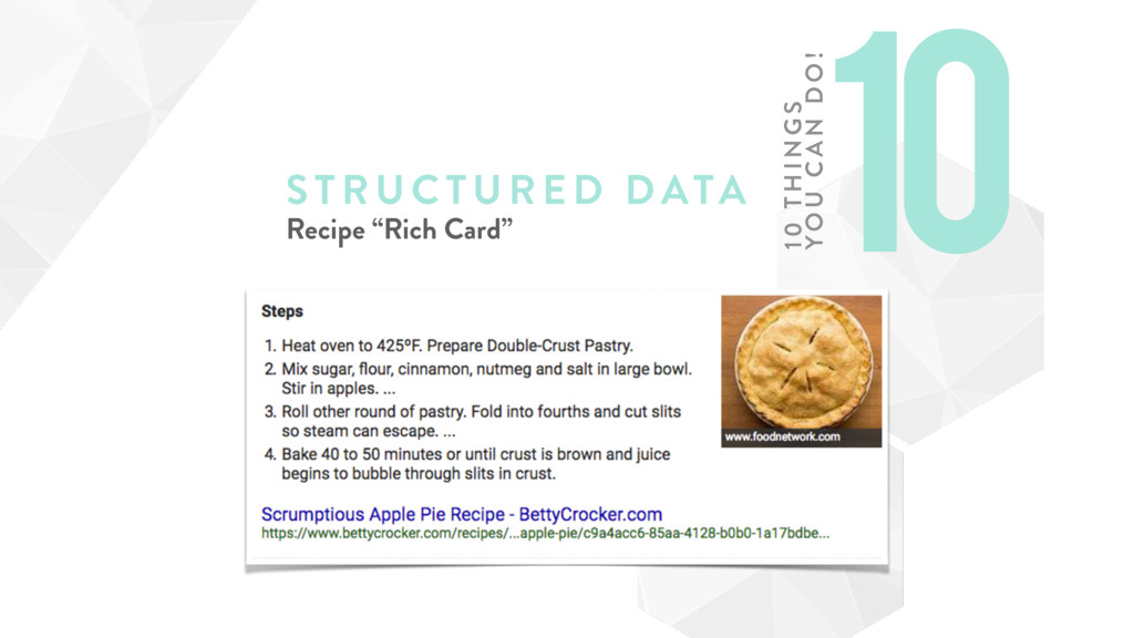 "STRUCTURE D DATA Recipe ""Rich Card"" 10 10 TH IN..."