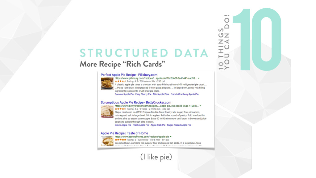 "STRUCTURE D DATA More Recipe ""Rich Cards"" (I li..."