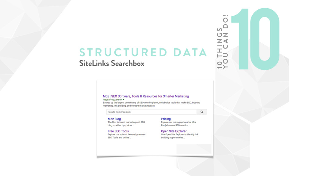 STRUCTURE D DATA SiteLinks Searchbox 10 10 TH I...