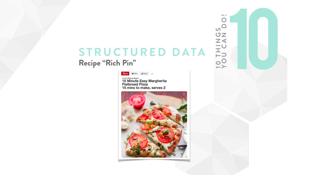 "STRUCTURE D DATA Recipe ""Rich Pin"" 10 10 TH ING..."