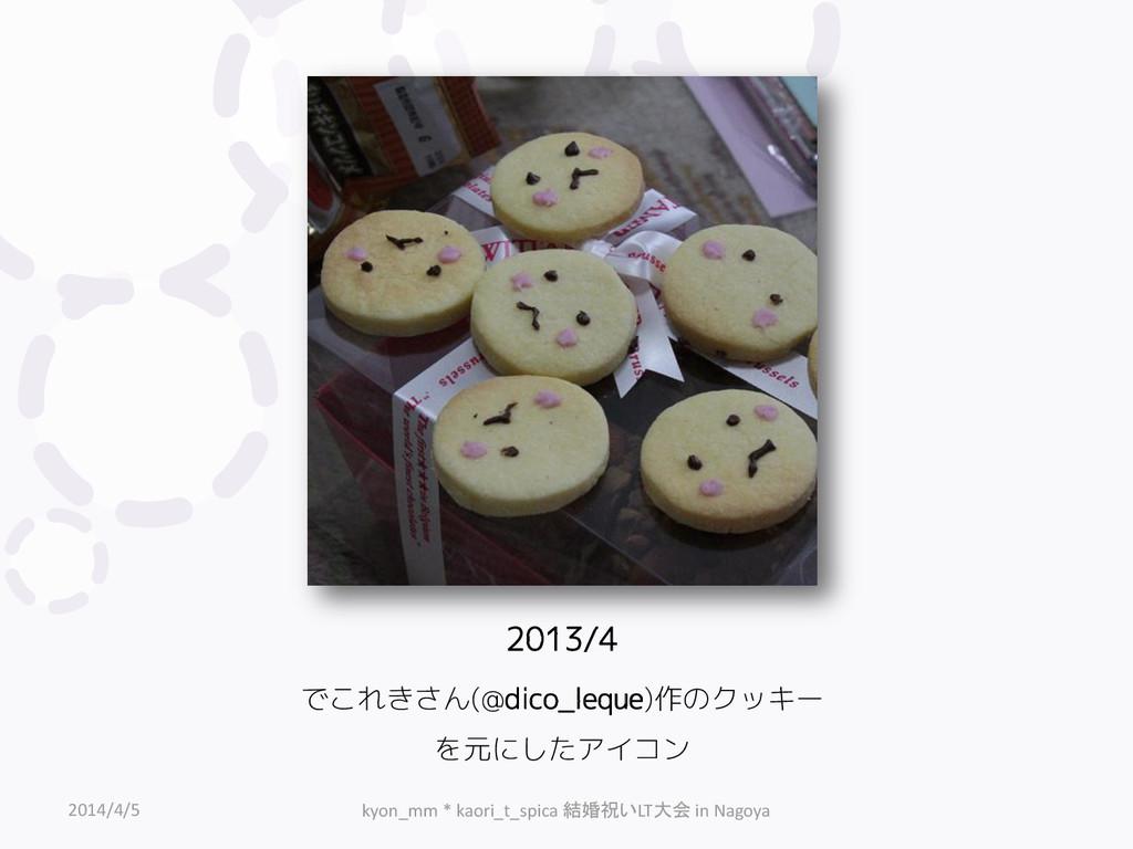 2013/4 でこれきさん(@dico_leque)作のクッキー を元にしたアイコン 2014...