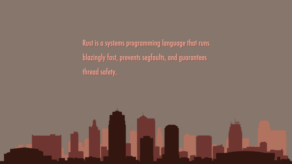 Rust is a systems programming language that run...