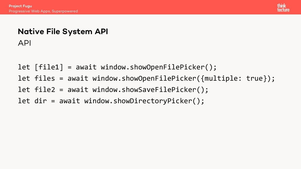 API let [file1] = await window.showOpenFilePick...