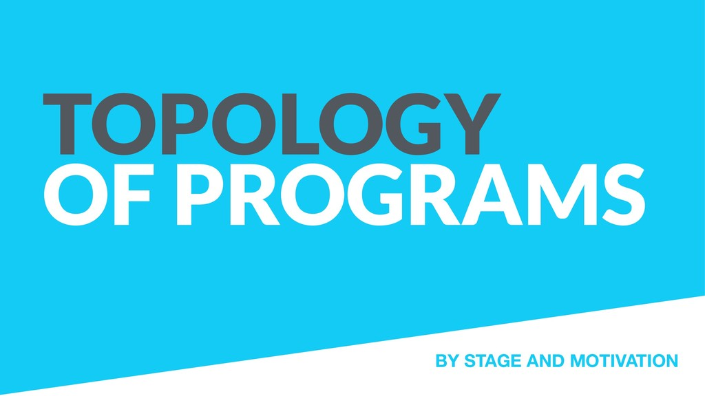 TOPOLOGY OF PROGRAMS BY STAGE AND MOTIVATION