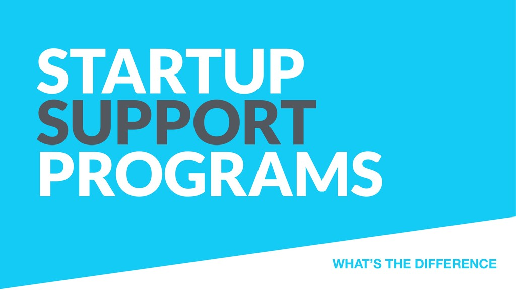 STARTUP SUPPORT PROGRAMS WHAT'S THE DIFFERENCE