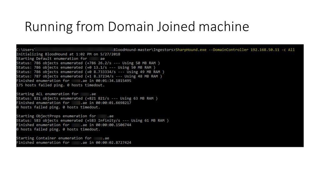 Running from Domain Joined machine