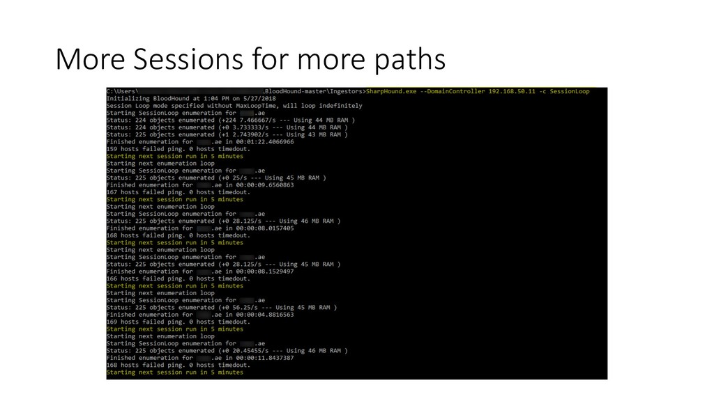 More Sessions for more paths