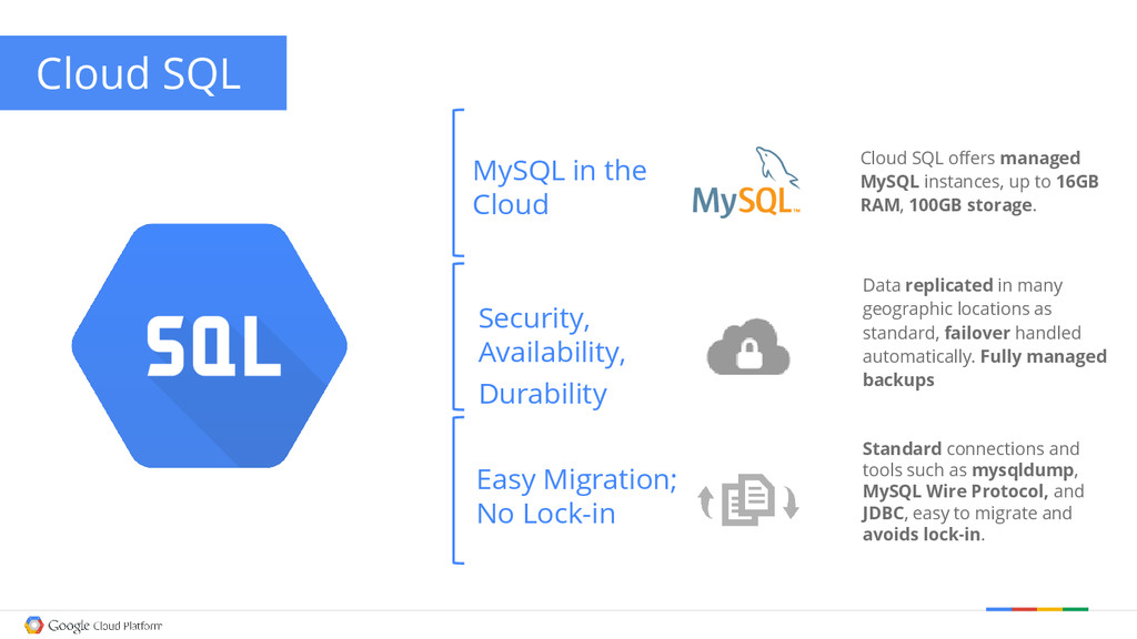 MySQL in the Cloud Easy Migration; No Lock-in S...